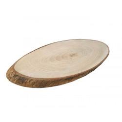 Ağaç Kütük Sade Kestane Ağaci Büyük 20x40 Cm