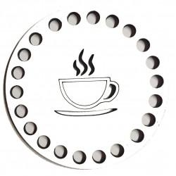 Ahşap Bardak Altlığı Kahve Fincan Model