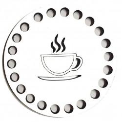 Ahşap Bardak Altlığı Kahve Fincan Model ( 4 Adet )