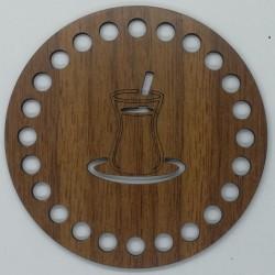 Ahşap Bardak Altlığı Çay Bardak Model ( 4 Adet )