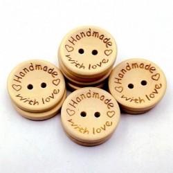 Ahsap Handmade Düğme With Love