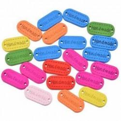 Ahsap Handmade Düğme Renkli 10 Adet