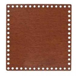 Ahşap Sepet Tabanı Kare Kahverengi Boyları ( 1 Adet )