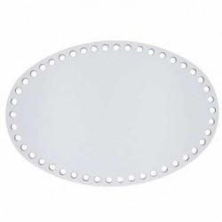 Ahşap Sepet Tabanı Oval Beyaz ( 1 Adet )
