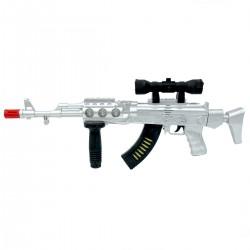 AK-47 Gun Electric Işıklı Sesli Tüfek