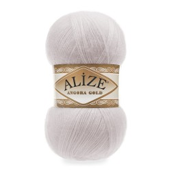 Alize Angora Gold El Örgü İpi 168 Kış Beyazı