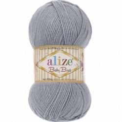 Alize Baby Best El Örgü Bebe İpi 119 Gümüş Gri