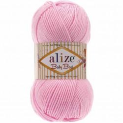 Alize Baby Best El Örgü Bebe İpi 191 Açık Pembe