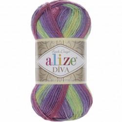 Alize Diva Batik El Örgü İpi  3241