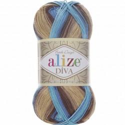 Alize Diva Batik El Örgü İpi 3243