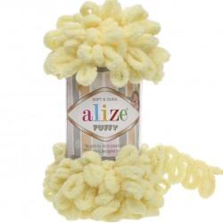 Alize Puffy El Örgü İpi 13 Açık Sarı