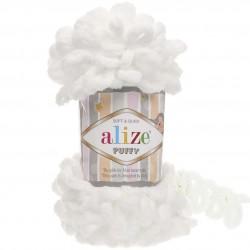 Alize Puffy El Örgü İpi 55 Beyaz