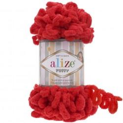 Alize Puffy El Örgü İpi 56 Kırmzı