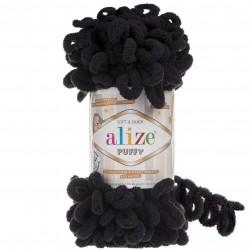 Alize Puffy El Örgü İpi 60 Siyah