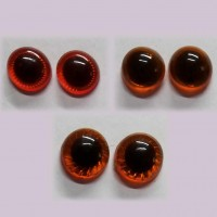 Amigurumi Kilitli Göz Turuncu 14 mm  ( 1 Çift )