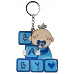 Anahtarlik Bebek Baby Yazili Mavi 4x4.5 Cm