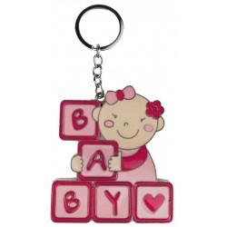 Anahtarlik Bebek Baby Yazili Pembe 4x4.5 Cm
