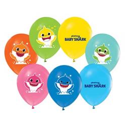 Baby Shark Balon Pastel Renkler ( 100 Adet )