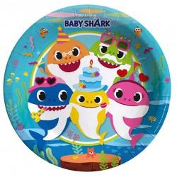 Baby Shark Tabak 23 cm ( 8 Adet )