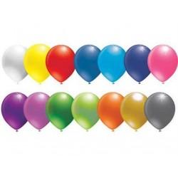 Balon 10 İnc Baskisiz Karişik Renk  ( 100 Adet )