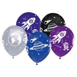 Balon Astronot Uzay Çepeçevre Baskili ( 100 Adet )