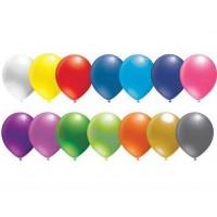 Balon Metalik Düz 12 İnç Karışık ( 20 Adet )