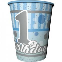 Bardak 1 Yaş Happy Bırthday Mavi