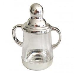 Biberon Parlak Gümüş 6.5x9 Cm