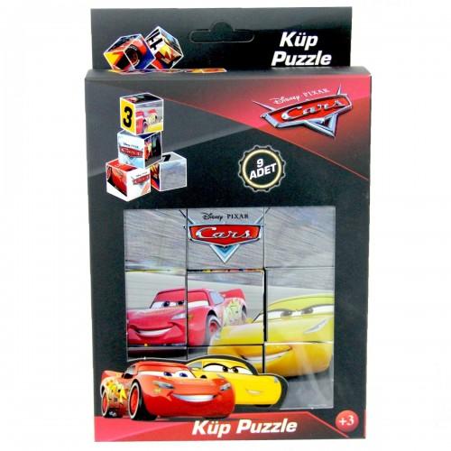Cars Küp Puzzle 9 Parça
