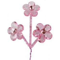 Çiçek 3Lü Dal 5x14 Cm ( 10 Adet )