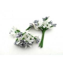 Çiçek  Cipso Gümüş 3x7 Cm ( 100 Adet )