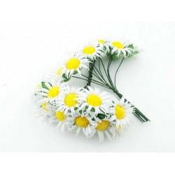 Çiçek Papatya Beyaz 3.5x9 Cm ( 100 Adet )