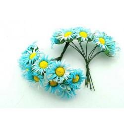 Çiçek Papatya Mavi 3.5x9 Cm ( 100 Adet )