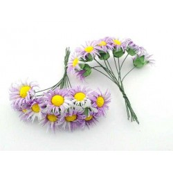 Çiçek Papatya Mor 3.5x9 Cm ( 100 Adet )