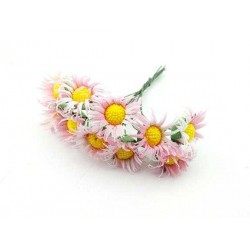 Çiçek Papatya Pembe 3.5x9 Cm ( 100 Adet )