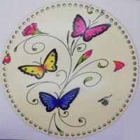 Desenli Sepet ( Tepsi ) Tabanı SP9981 Kelebek