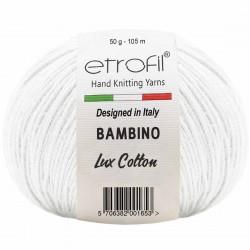 Etrofil Bambino Lux Cotton Örgü İpi 70019 Beyaz