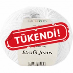 Etrofil Jeans Örgü İpi 002 Beyaz