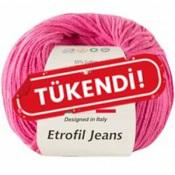 Etrofil Jeans Örgü İpi 010 Koyu Pembe
