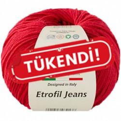 Etrofil Jeans Örgü İpi 014 Koyu Kırmızı