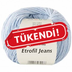 Etrofil Jeans Örgü İpi 018 Bebe Mavisi