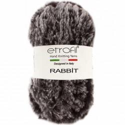 Etrofil Rabbit Örgü İpi 70907 Gri Siyah