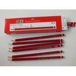 Faber Castell 12'li Mercanlı Kırmızı Kalem