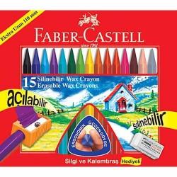 Faber Castell 15 Li Silinebilir Wax Crayon Pastel Boya