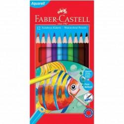 Faber Castell Kuru Sulu Boya Kalemi 12 Renk