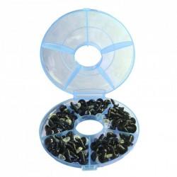Fırsat Paketi 1 - Amigurumi Kilitli Göz Siyah ( 48 çift ) - Kutu Hediyeli