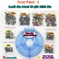 Fırsat Paketi 2 - ( 50 çift ) Renkli Göz - Kutu Hediyeli