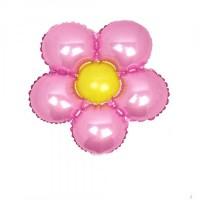 Folyo Balon Çiçek Modeli 18 Inc 40 Cm Pembe