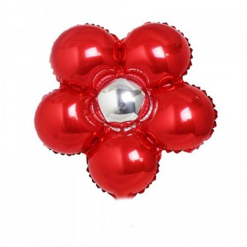 Folyo Balon Çiçek Modeli 18 Inc 40 Cm Kırmızı