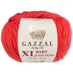 Gazzal Baby Cotton Xl Örgü İpi 3418 Kırmızı